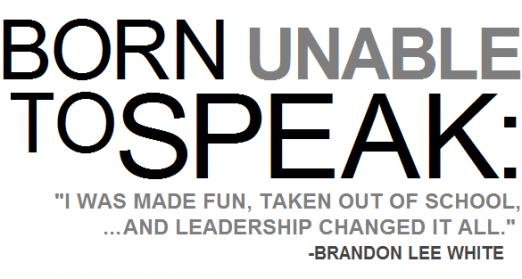Brandon Lee White motivational speaker
